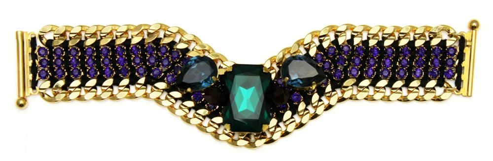 124 - Midnight Embellished V Bracelet.jpg