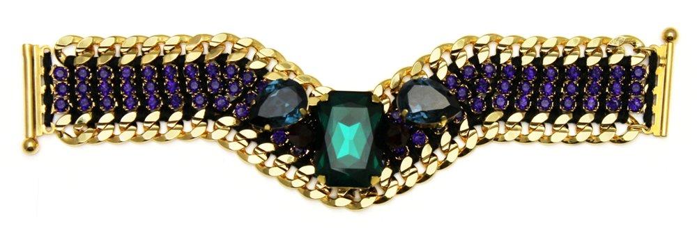 124 - Midnight Embellished V Bracelet.jpg