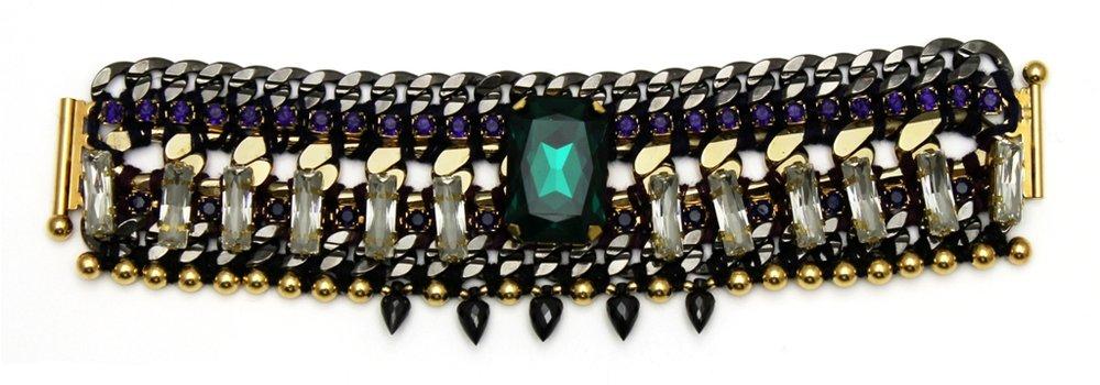 125 - Midnight Embellished Spiked Bracelet.jpg