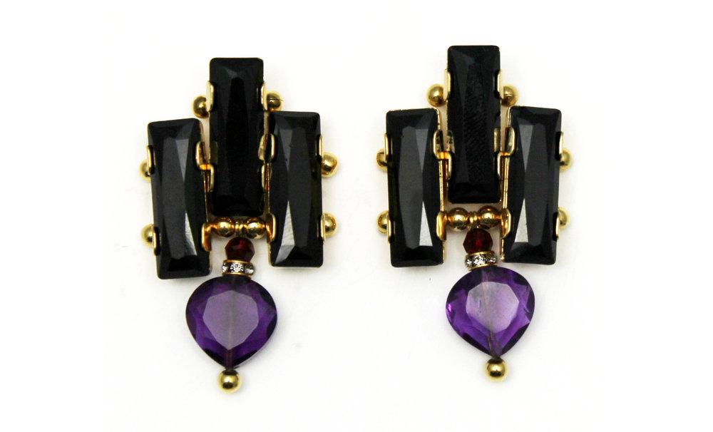 126P - Deco Drop Earrings (BlackPurple).jpg