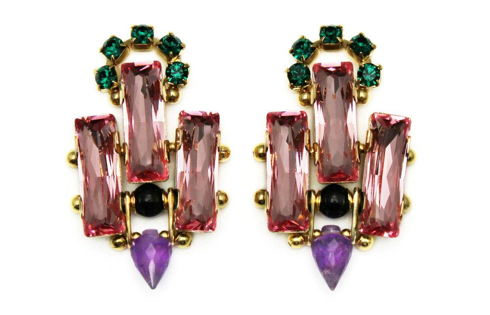 127P - Deco Spiked Earrings (PinkPurple).jpg