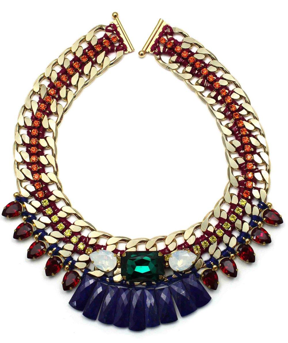 135 Tropicana Bright Tribal Necklace.jpg