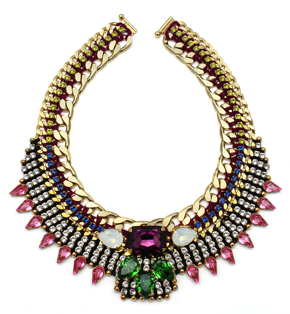 136 Tropicana Bright Crystal Bib Necklace.jpg