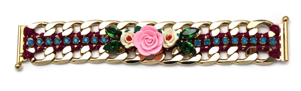 149BP Botanical Chunky Bracelet - BluePink.jpg