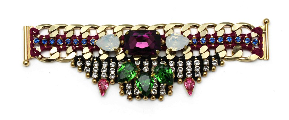 148 Tropicana Bright Crystal Embellished Bracelet.jpg