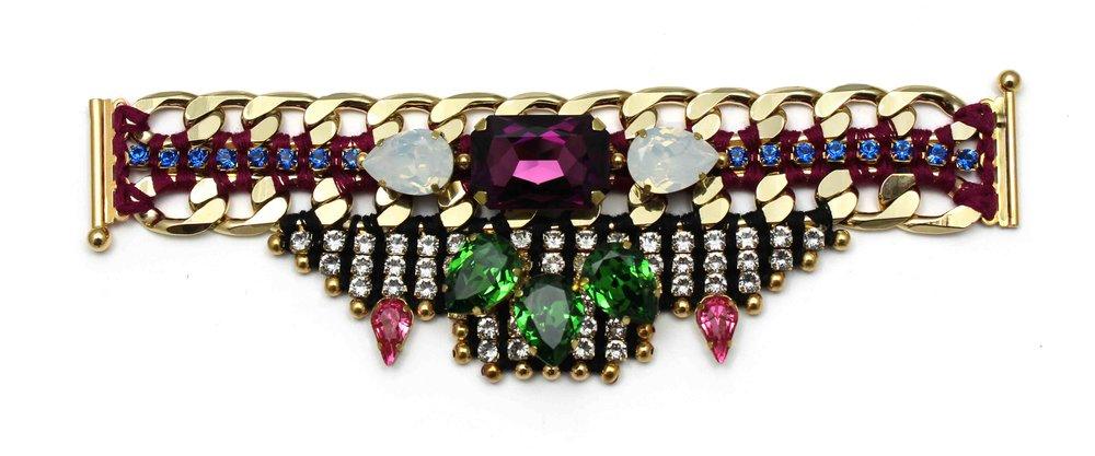 148 Tropicana Bright Crystal Embellished Bracelet.jpg