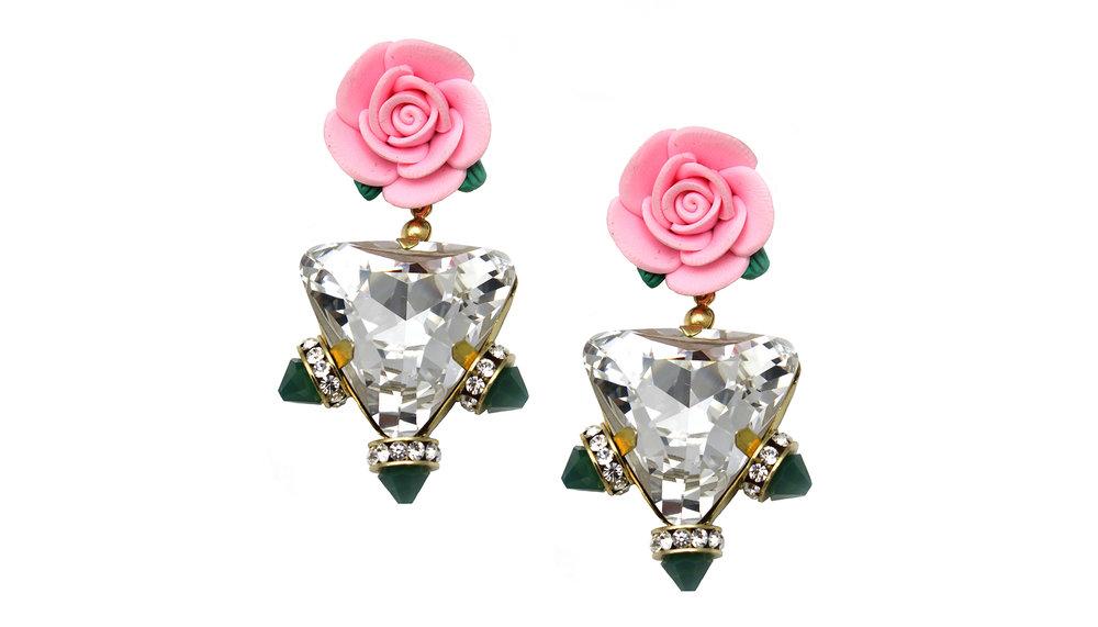 157 Big Triangle Spiked Botanical Earrings.jpg