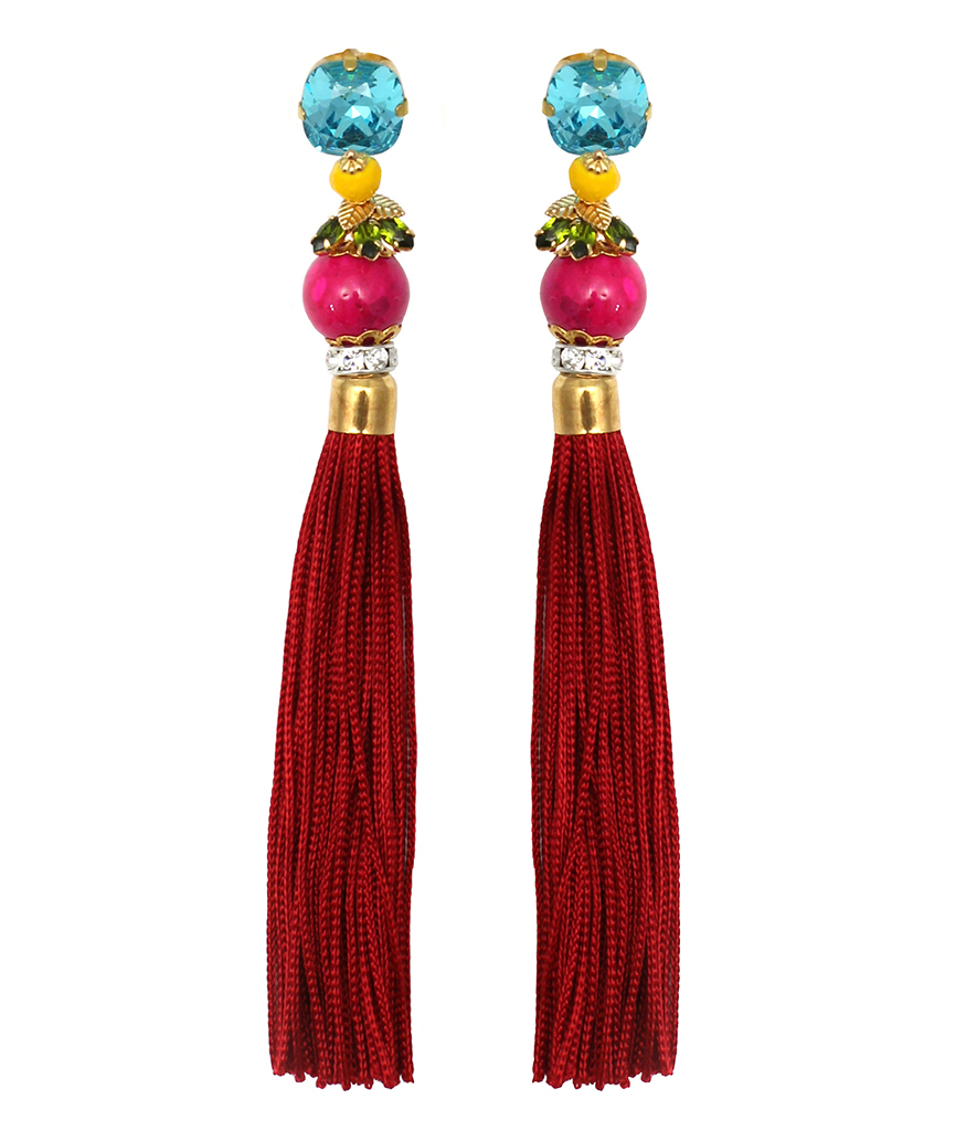 158 Botanical Tassel Earrings.jpg