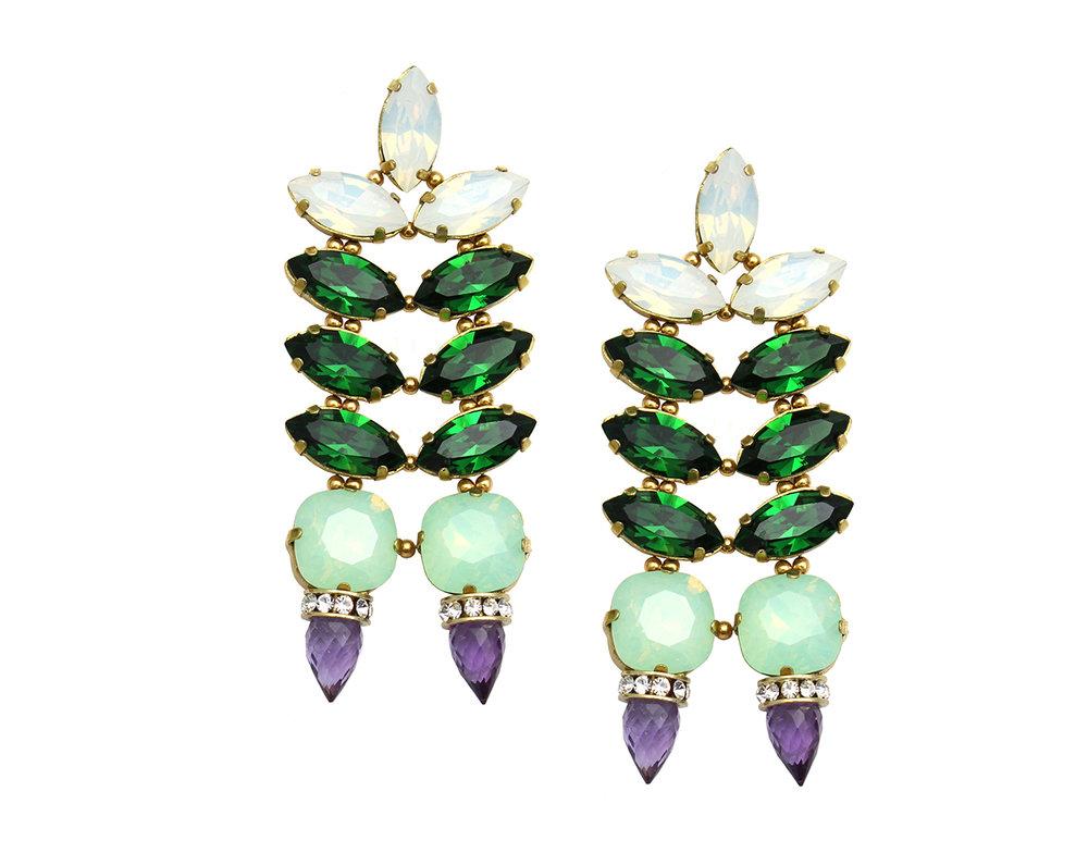 161MG Hyacinth Double Spike Earrings - MultiAmethyst.jpg