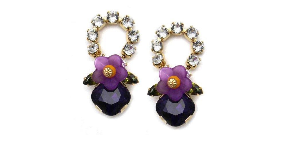 165CP Botanical Loop Earrings - CrystalPurple.jpg