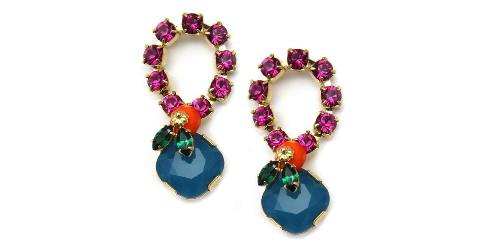 165PB Botanical Loop Earrings - PinkBlue.jpg