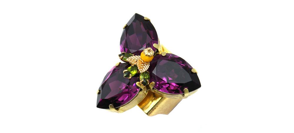 168PL Triple Pear Ring with Figleaf - Purple (2).jpg