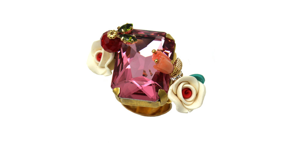 169 Rectangle Botanical Ring - Pink.jpg