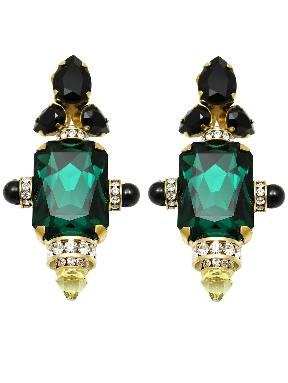 182E-GB Moscow Earrings - Green_Black.jpg