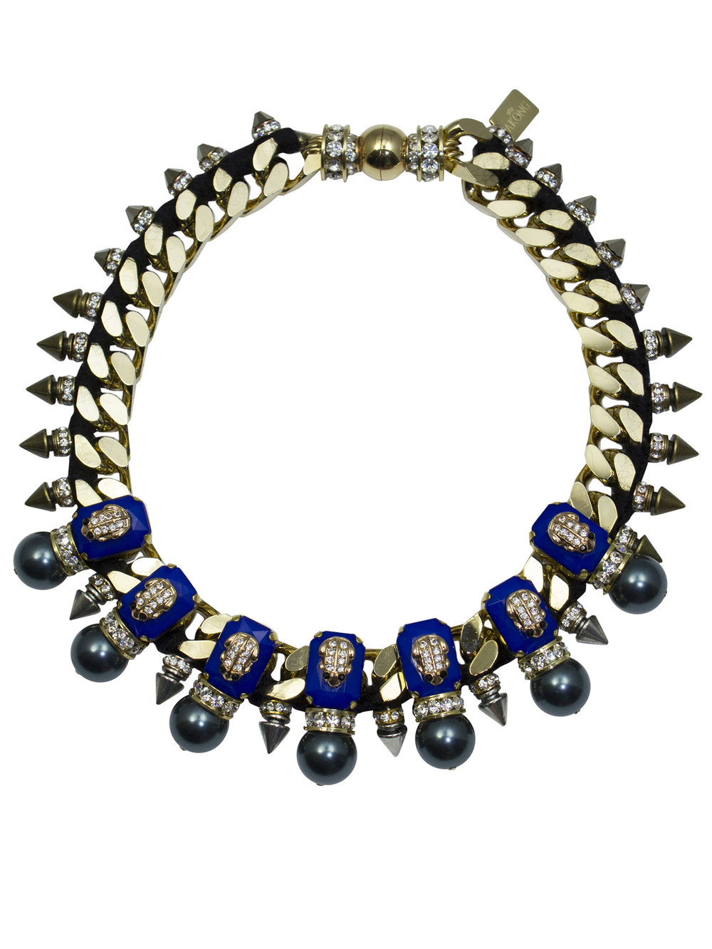 209N Blue & Gold Military Necklace.jpg