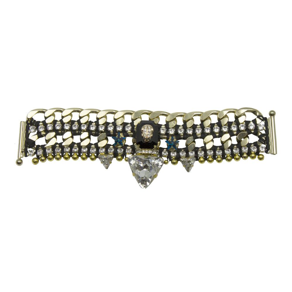 221B Black & Crystal Star Military Bracelet.jpg