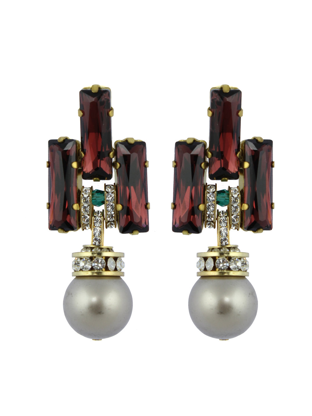 241E Burgundy Deco Platinum Pearl Drop Earrings.jpg