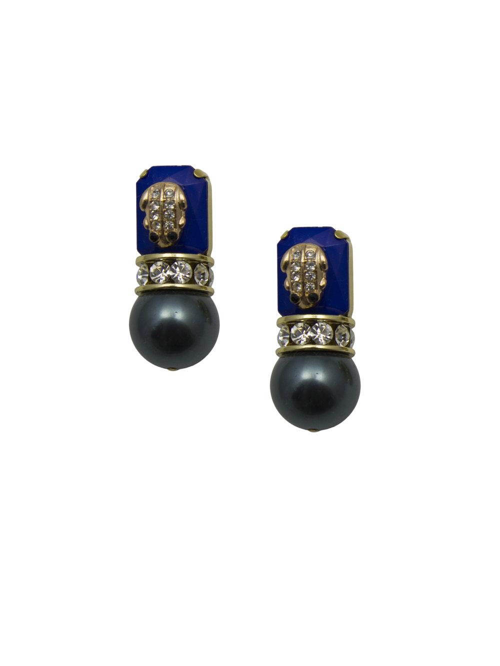 229E Blue & Gold Military Tahitian Pearl Stud Earrings.jpg