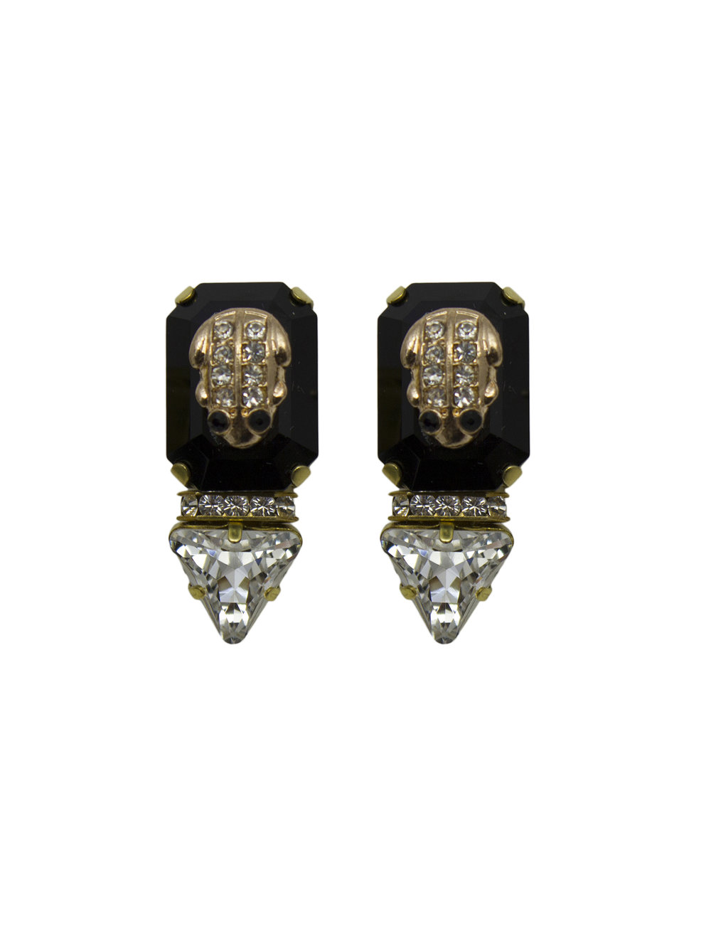 231E Black & Crystal Triangle Stud Earrings.jpg