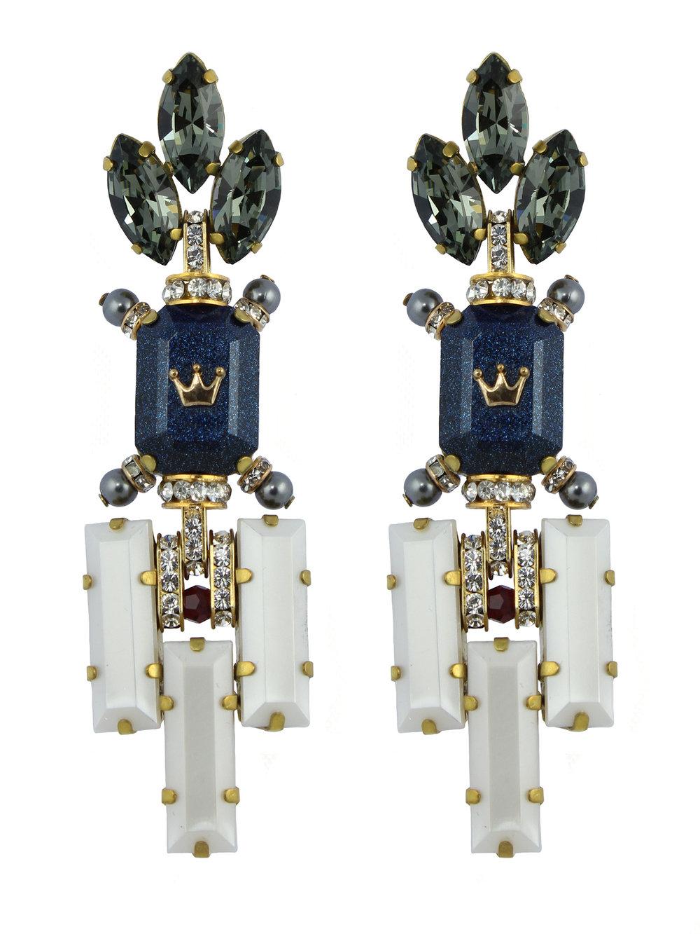 233E Grey & Blue Deco Dangle Earrings.jpg