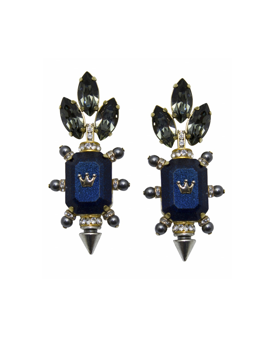 234E Navy Aviator Spiked Earrings.jpg