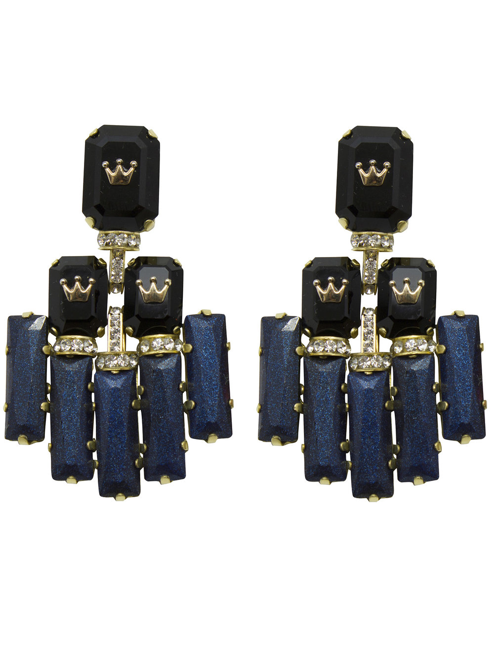 235E Black Triple Rectangle Deco Earrings.jpg