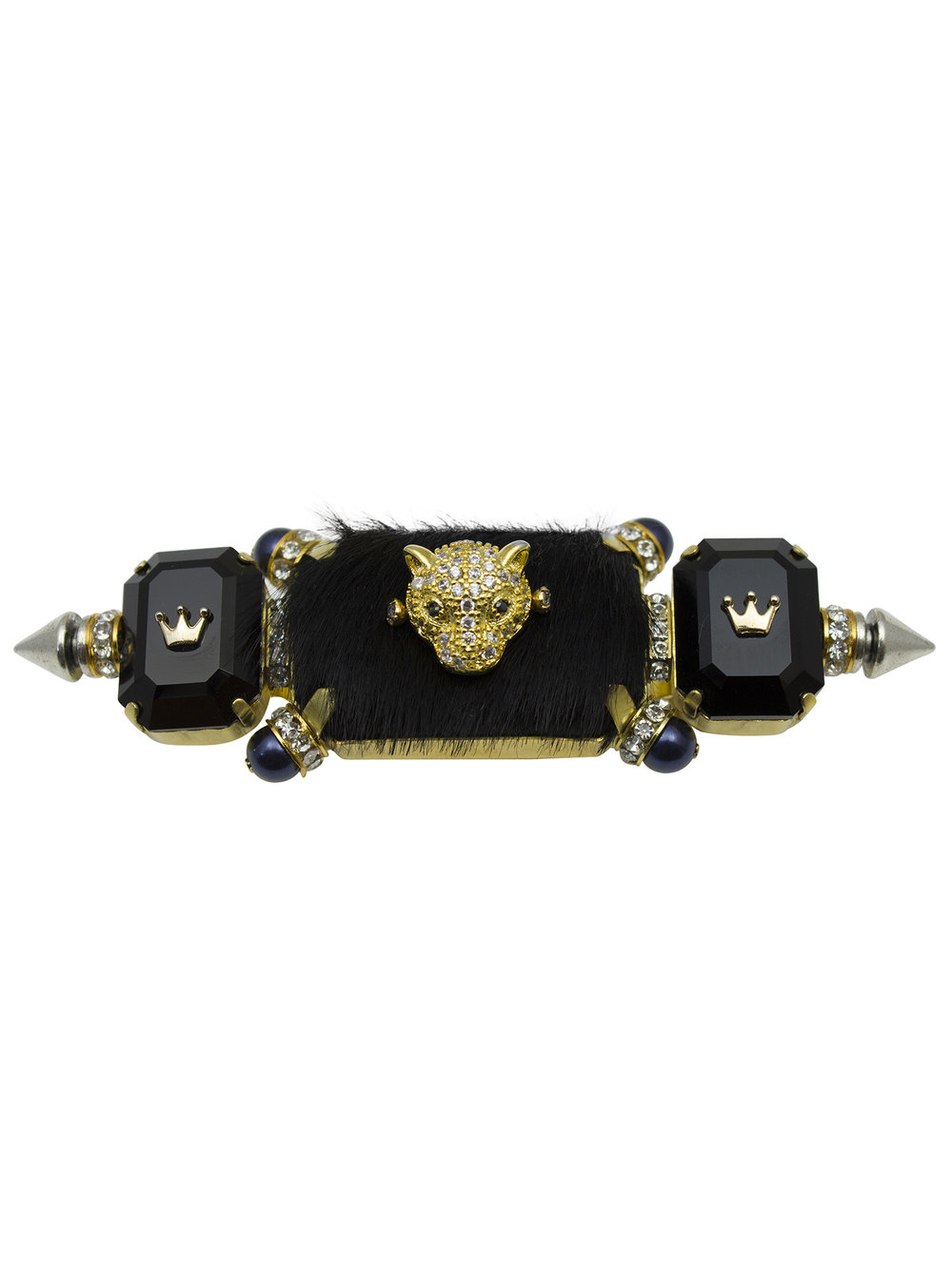 242R Black & Gold Triple Rectangle Knuckleduster Ring (1).jpg