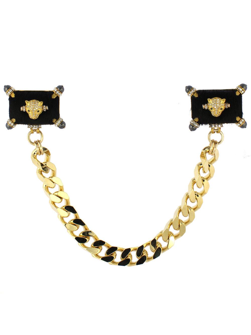 249BR Black & Gold Ponyskin Cheetah Double Brooch.jpg