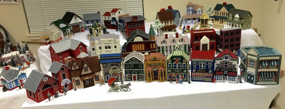 Another view of the needlepoint village