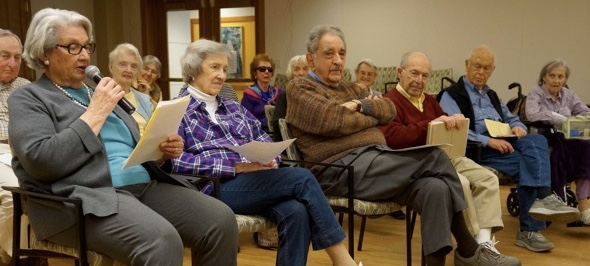 Residents attending a Council meeting