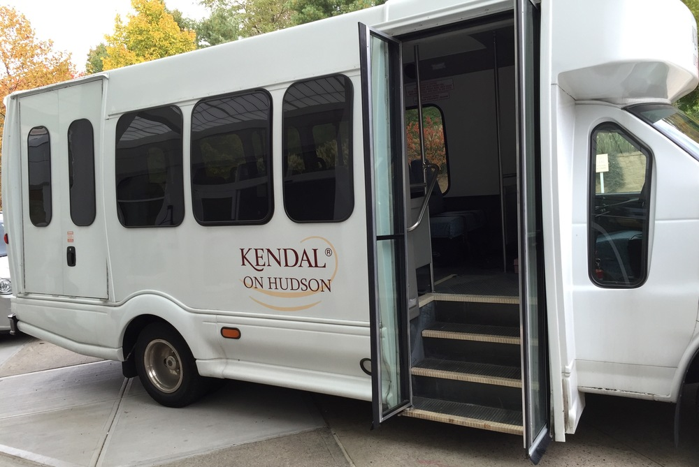 Kendal Bus ready to receive passengers