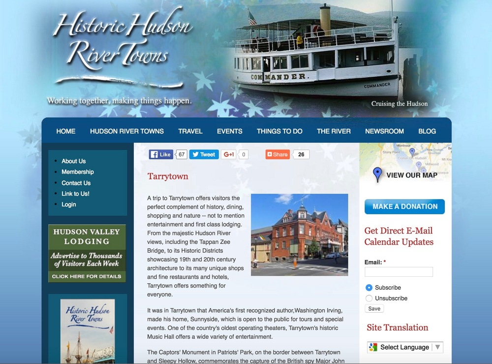For Historic Hudson River tours, attractions and activities,   click here  .