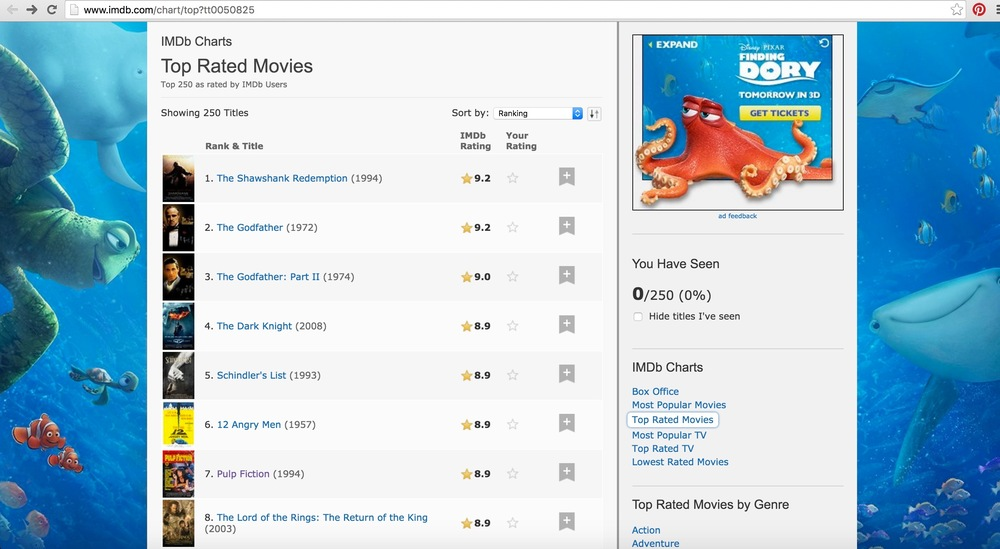 IMDb opening page