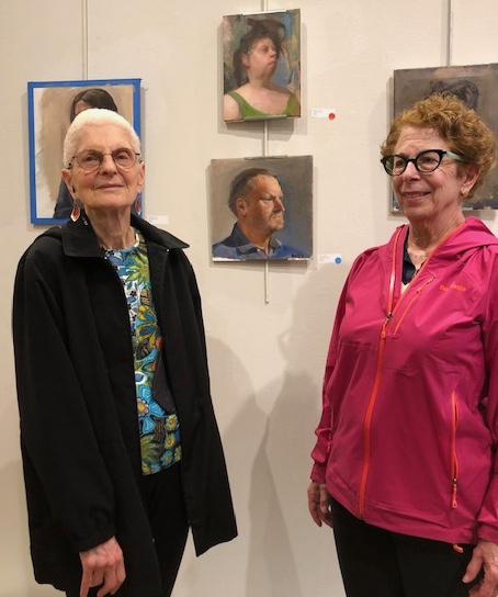 Lin Bermas at Jane Hart's Painting.jpg