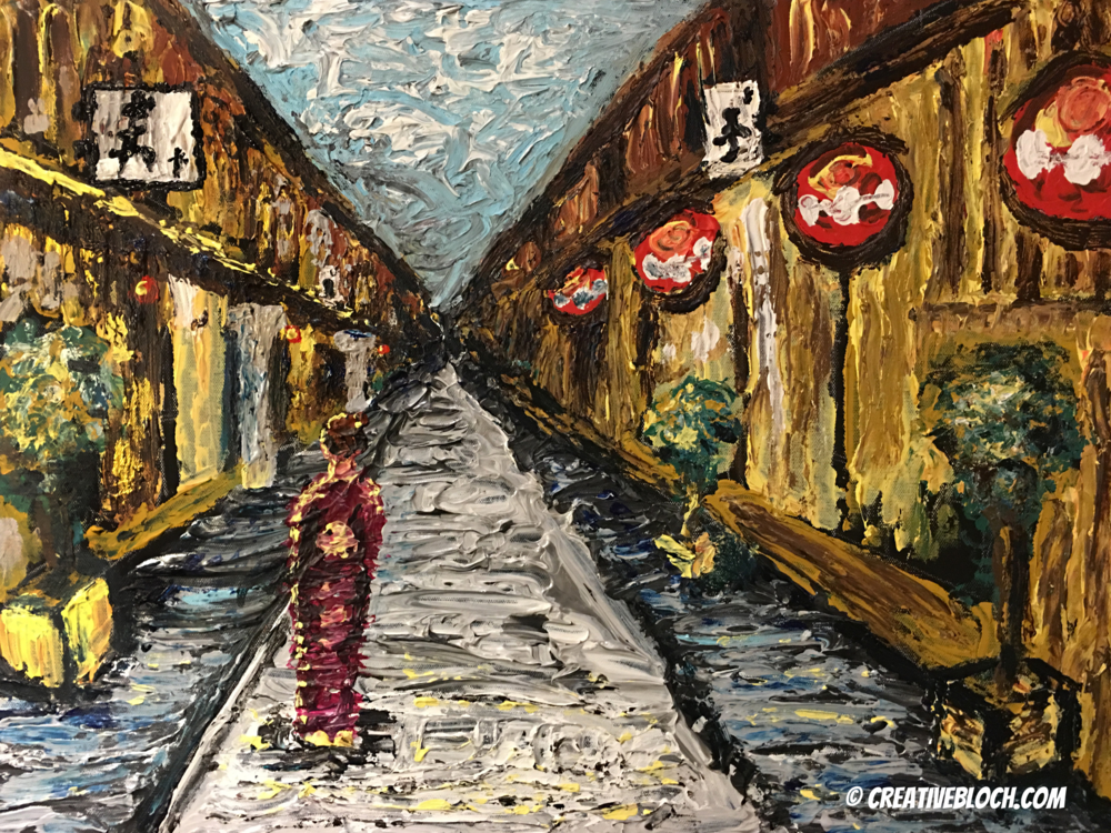 "Kyoto, 2015, 18x24"" Acrylic on Canvas by Joe Bloch"