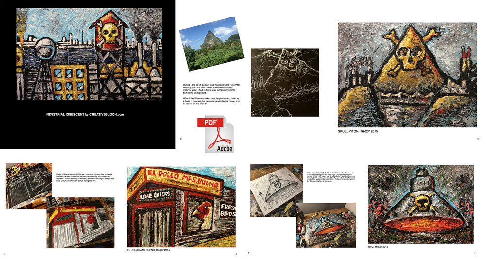 Sample spreads from the eBook