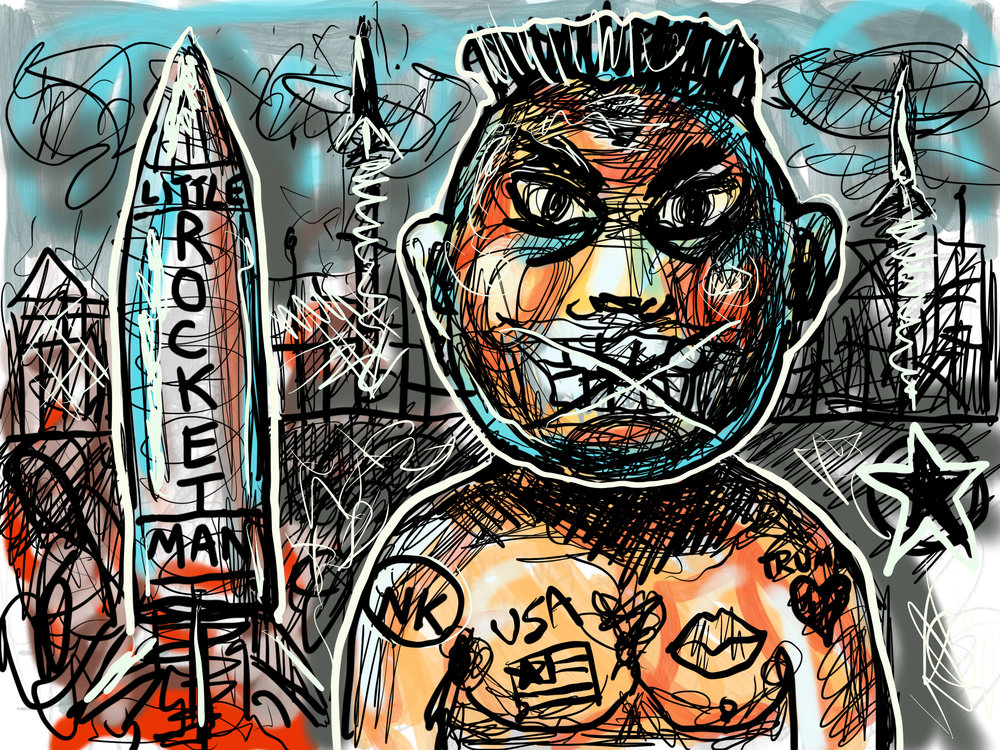 LITTLE ROCKETMAN tries to nuke STICKY CITY