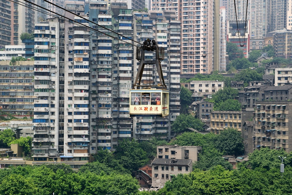 Yangtze river cableway. Photo by  Clément Belleudy .
