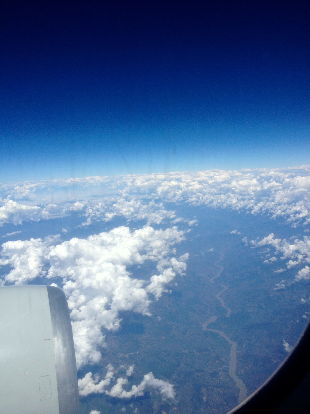 Passing over Burma.