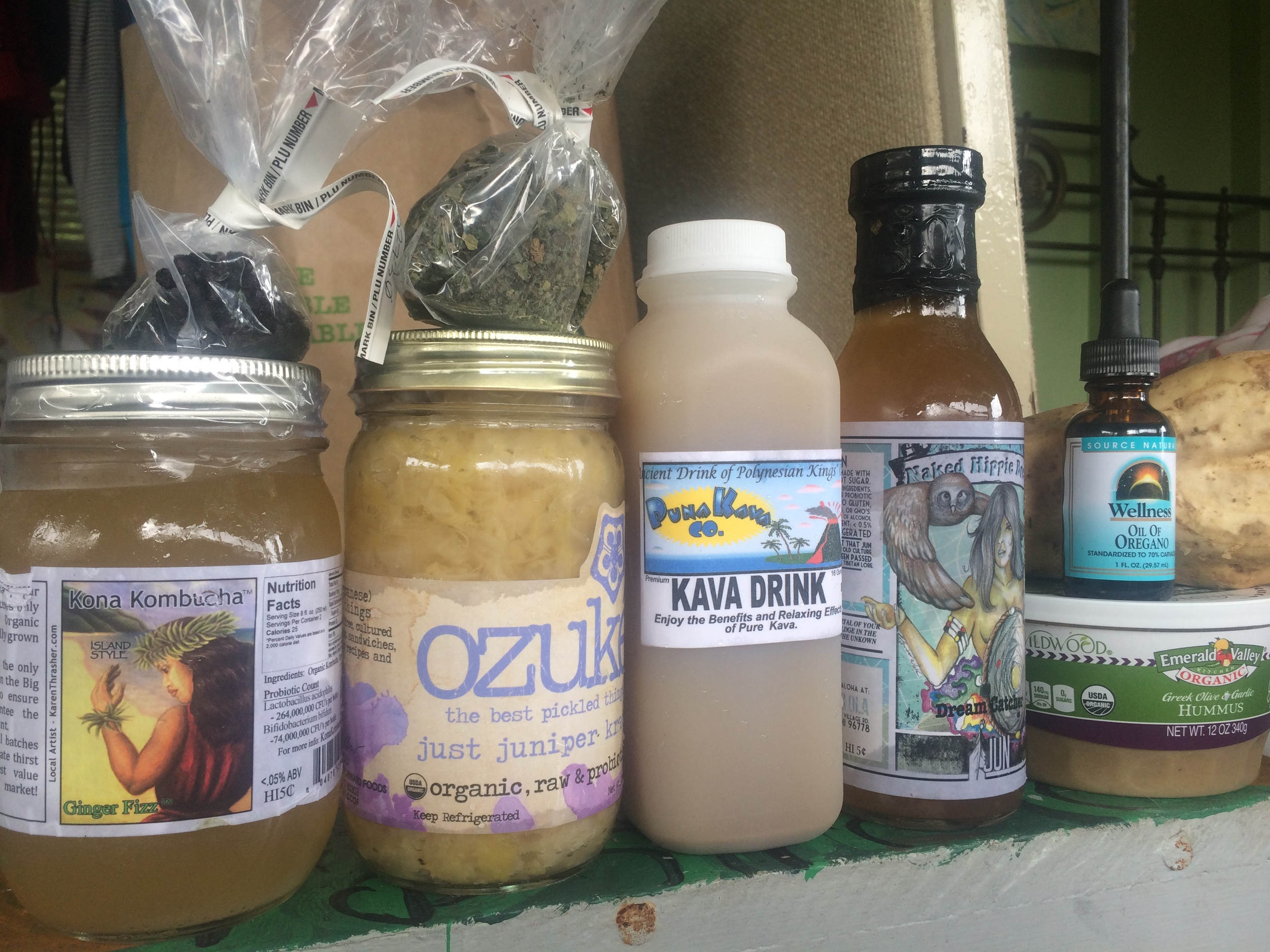 Puna Pahoa Island Naturals Shopping Trip Local Kava, Kombucha and herbs.