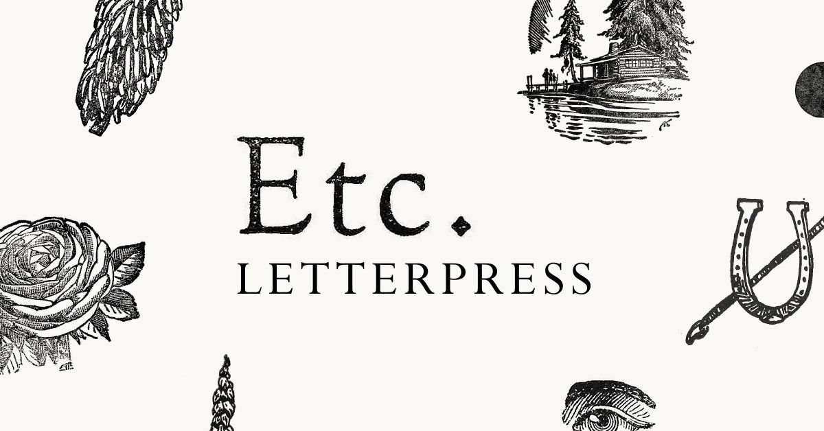 Shop — Etc  Letterpress