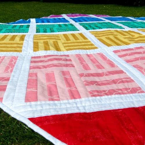 Coffee Rings Studio Rainbow Lattice Quilt The Crafty Mastermind