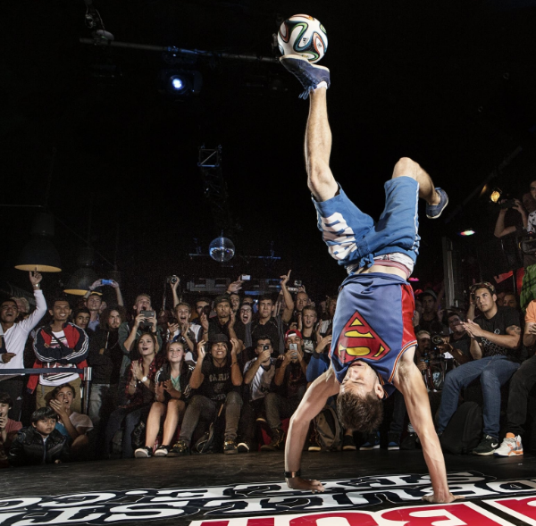 Maarten Van Luit from Amsterdam taking part in the Red Bull Street Style national championships in 2014.