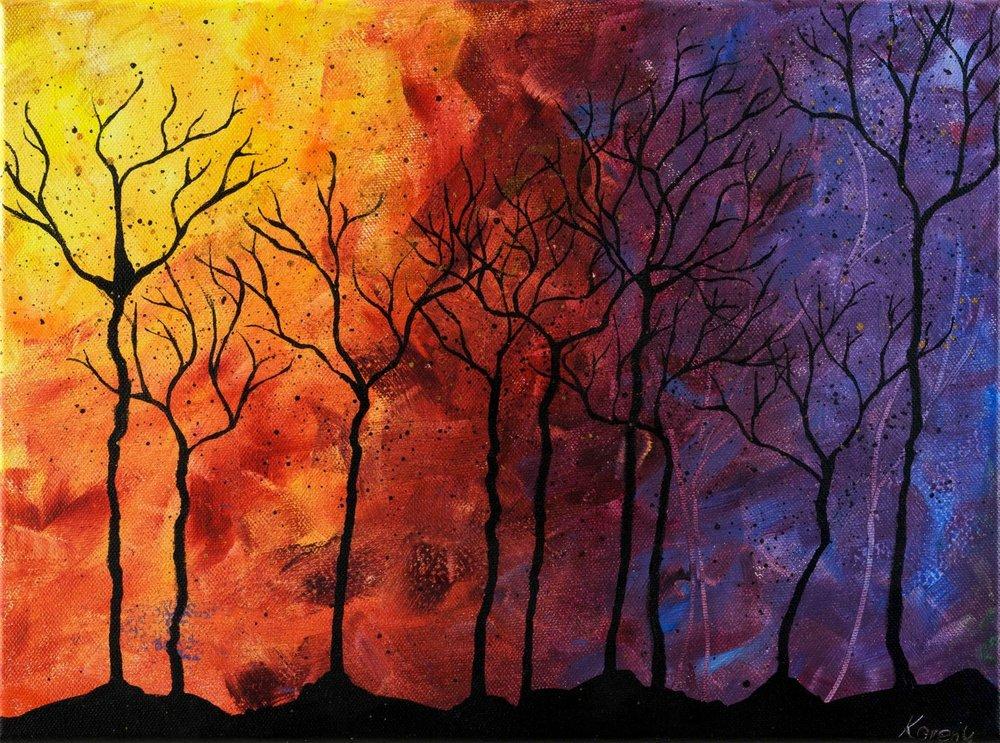 Forest - burning