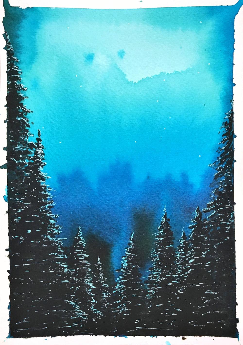 Pine series - blue