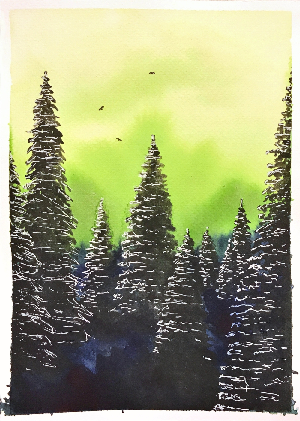 Pine series - green