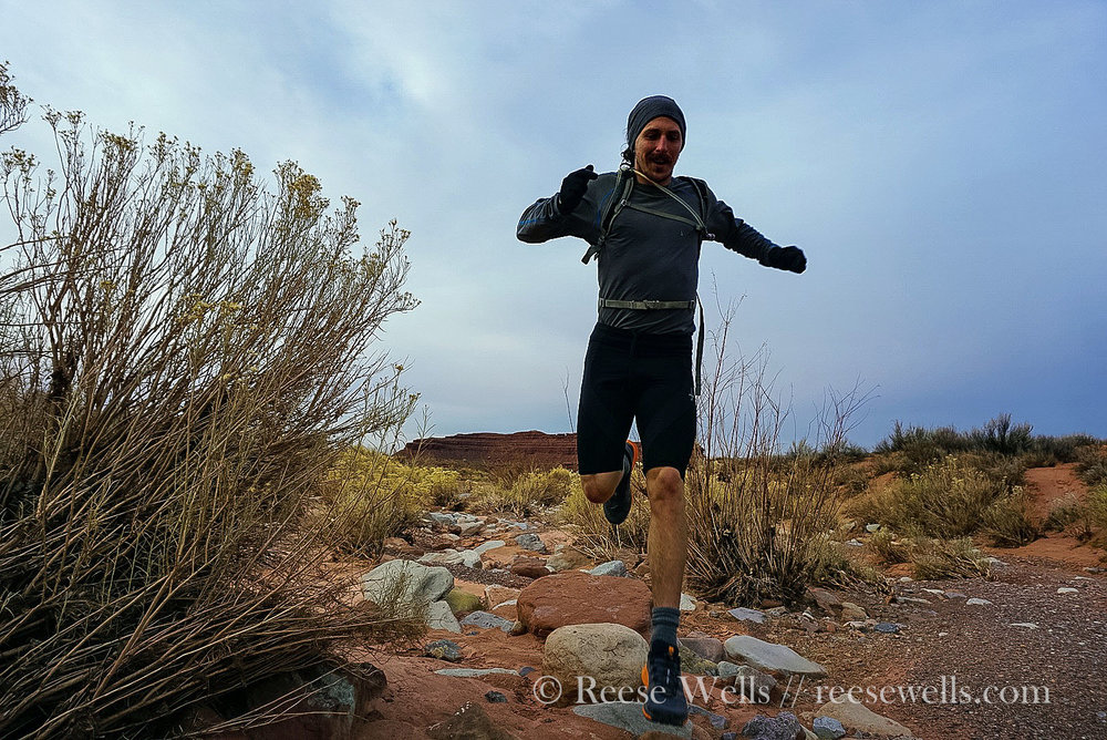 Running through Valley of the Gods, Utah.  Read about it here.