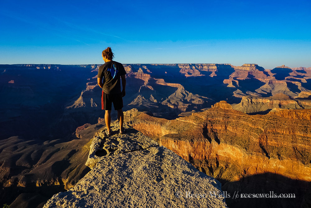 A (very) rare Grand Canyon photo without hordes of other visitors. This photo taken at sunset on the south rim.