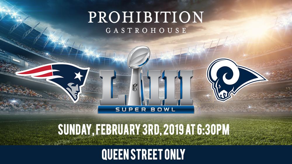 Super Bowl 2019 at Prohibition Gastrohouse