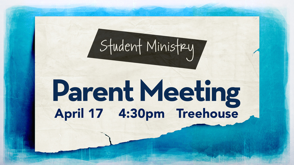 Parent Meeting - The Talk - April 17 @ 4:30pm